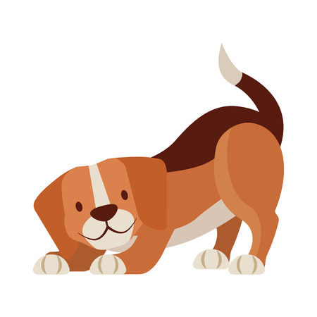 Illustrazione per beagle dog pet on white background vector illustration - Immagini Royalty Free