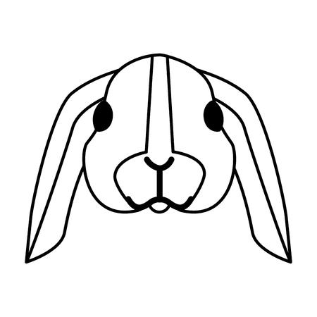 Ilustración de cute rabbit on white background vector illustration - Imagen libre de derechos