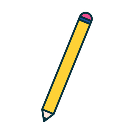 Illustration pour pencil object supply education school vector illustration - image libre de droit