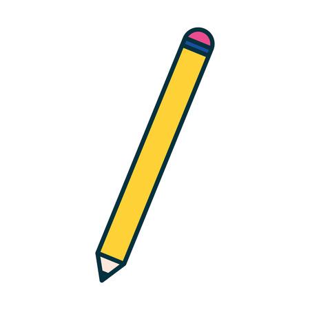 Ilustración de pencil object supply education school vector illustration - Imagen libre de derechos