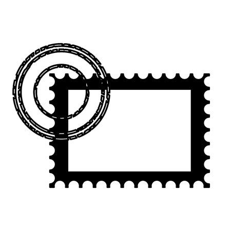 Illustration pour blank postage stamp on white background vector illustration - image libre de droit