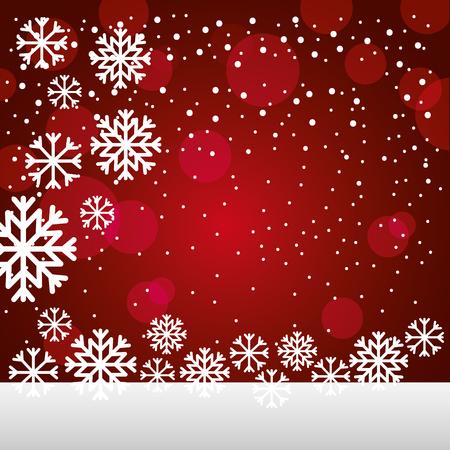 Illustration pour merry christmas snowflakes lights background vector illustration - image libre de droit