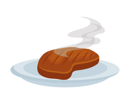Illustration for dish with meat beef vector illustration design - Royalty Free Image