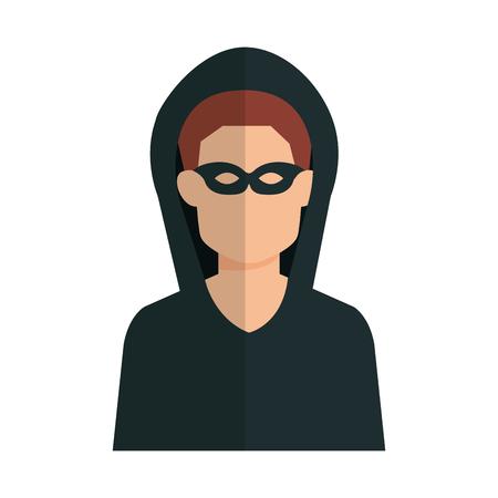 Illustrazione per hacker avatar character icon vector illustration design - Immagini Royalty Free