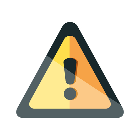 Ilustración de alert triangle symbol icon vector illustration design - Imagen libre de derechos