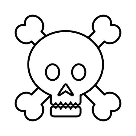 Ilustración de skull danger signal icon vector illustration design - Imagen libre de derechos