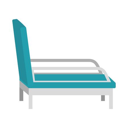 Illustration pour psychiatrist chair isolated icon vector illustration design - image libre de droit