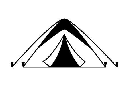 Ilustración de tent camping on white background vector illustration - Imagen libre de derechos
