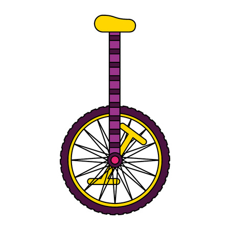 Illustration pour unicycle object on white background vector illustration - image libre de droit