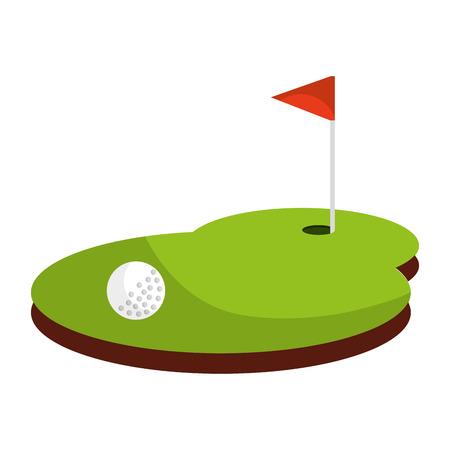 Ilustración de golf sport flag isolated icon vector illustration design - Imagen libre de derechos
