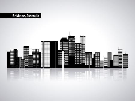 Illustration pour australia place brisbane city tourist vector illustration - image libre de droit