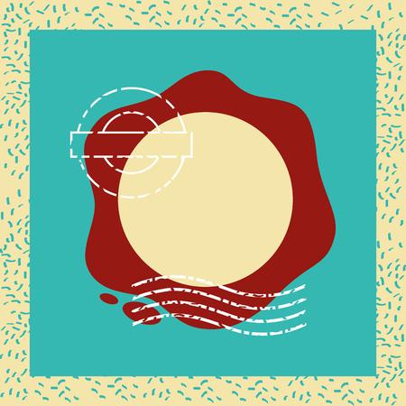 Illustration pour postage stamp template label design vector illustration - image libre de droit