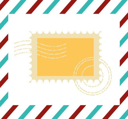 Illustration pour postage stamp communication template design vector illustration vector illustration - image libre de droit