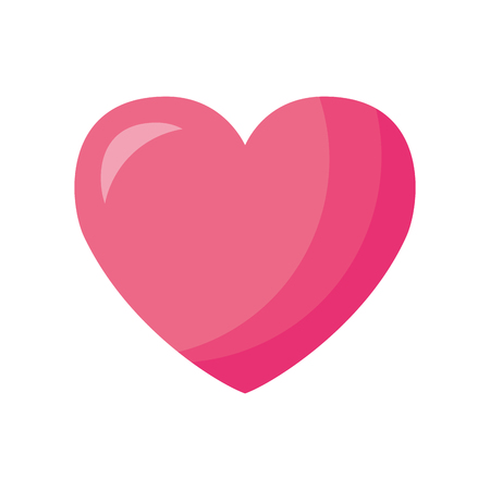 Illustration pour pink love heart valentine day vector illustration - image libre de droit