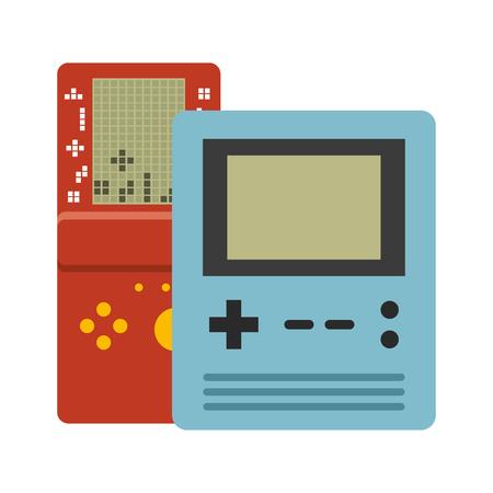 Ilustración de portable console devices video game vector illustration - Imagen libre de derechos
