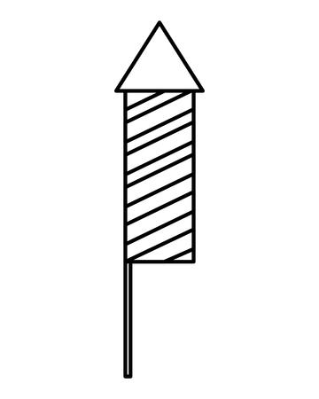 Illustration for carnival firework rocket icon vector illustration design - Royalty Free Image