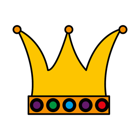 Illustration for queen crown carnival accessory vector illustration design - Royalty Free Image
