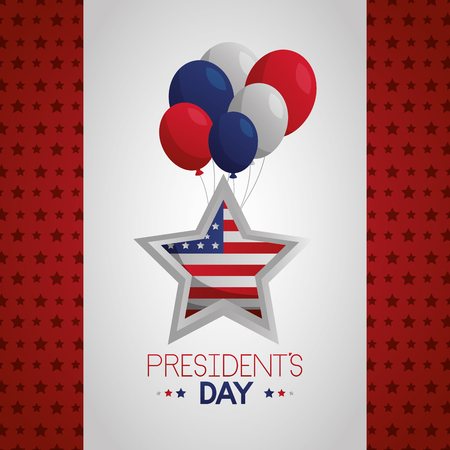 Illustration pour star balloons happy presidents day vector illustration - image libre de droit