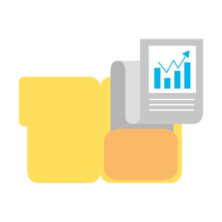 Ilustración de folder document chart business success vector illustration - Imagen libre de derechos