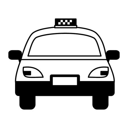 Illustration pour taxi vehicle service public white background vector illustration   - image libre de droit