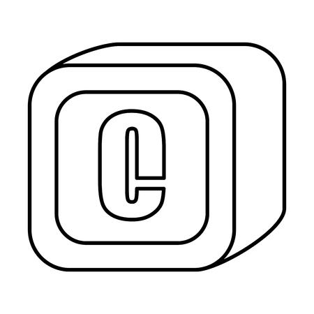 Ilustración de alphabet block toy icon vector illustration design - Imagen libre de derechos