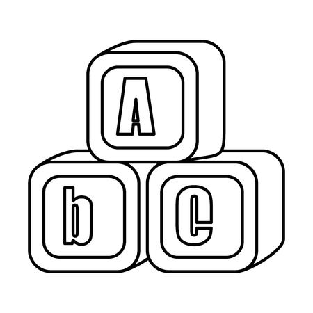 Ilustración de alphabet blocks toys icons vector illustration design - Imagen libre de derechos