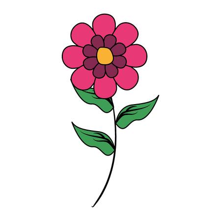 Ilustración de flower stem decoration on white background vector illustration - Imagen libre de derechos