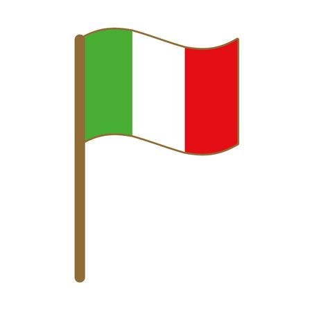 Illustration for italian flag isolated icon vector illustration design - Royalty Free Image