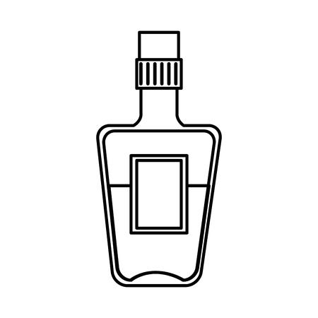Ilustración de tequila bottle beverage icon vector illustration design - Imagen libre de derechos