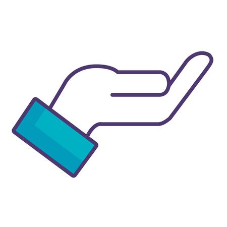 Illustration pour hand lifting isolated icon vector illustration design - image libre de droit