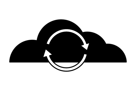 Illustration pour cloud computing reload data storage vector illustration - image libre de droit