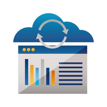 Ilustración de cloud computing reload website report vector illustration - Imagen libre de derechos