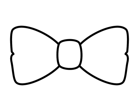 Illustration for elegant bowtie accessory icon vector illustration design - Royalty Free Image