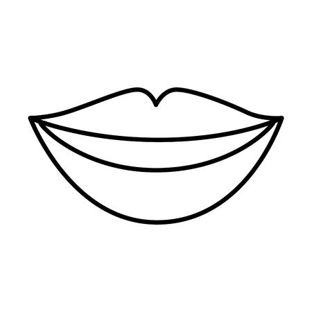 Ilustración de sensuality lips woman icon vector illustration design - Imagen libre de derechos