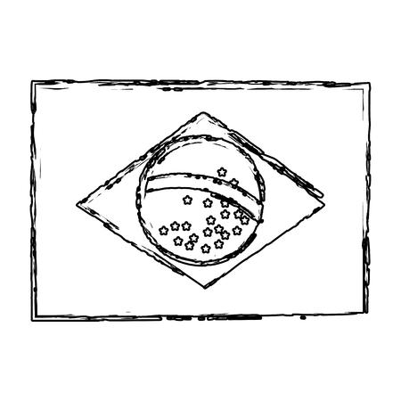Illustration for brazilian flag isolated icon vector illustration design - Royalty Free Image
