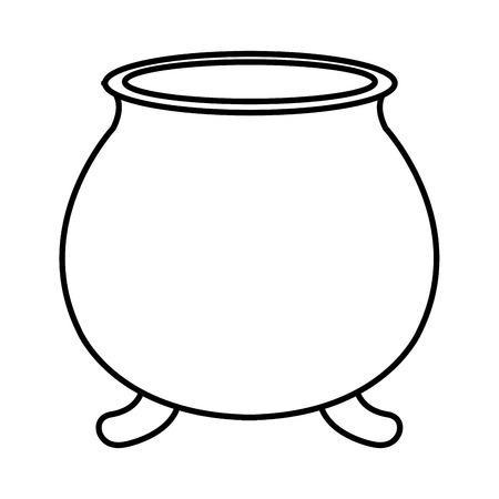 Illustration pour st patricks day card with cauldron empty vector illustration design - image libre de droit