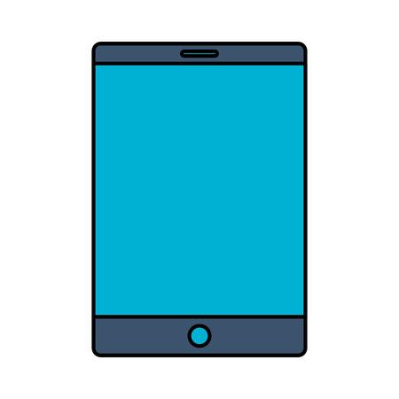 Illustration pour smartphone device digital on white background vector illustration - image libre de droit