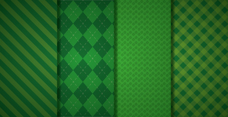 Ilustración de green banners checkered texture background vector illustration - Imagen libre de derechos