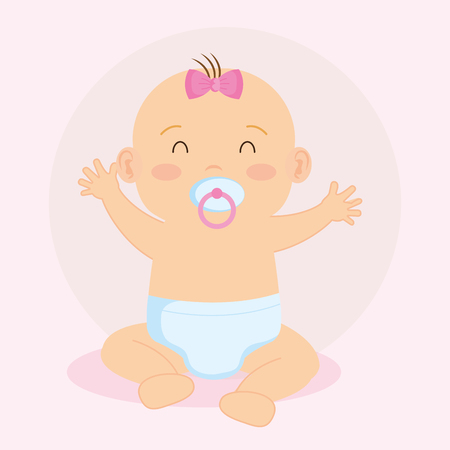 Illustration pour cute little baby character vector illustration design - image libre de droit