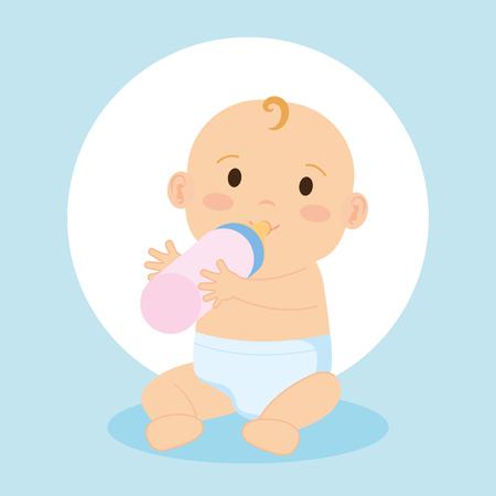 Illustration pour cute little baby character vector illustration design - image libre de droit