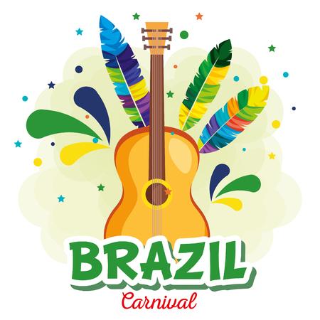 Ilustración de rio carnival brazilian card vector illustration design - Imagen libre de derechos