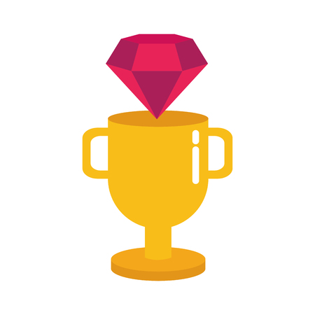Illustration pour diamond trophy winner video game vector illustration - image libre de droit