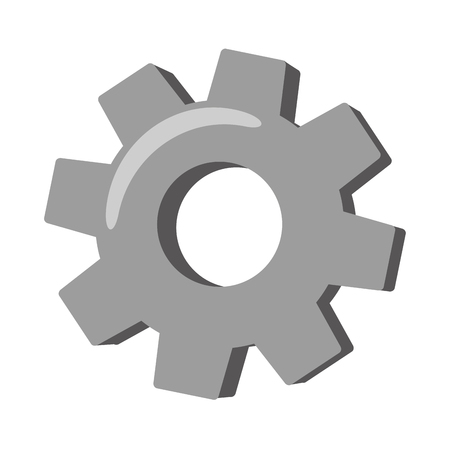 Illustration pour gear wheel cog on white background vector illustration - image libre de droit
