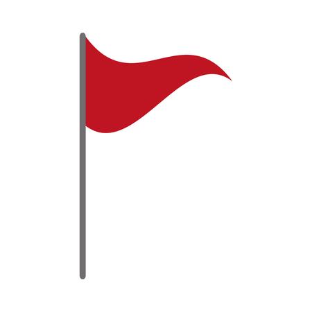Ilustración de red flag marker on white background vector illustration - Imagen libre de derechos