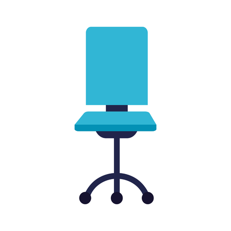 Ilustración de office chair furniture on white background vector illustration - Imagen libre de derechos