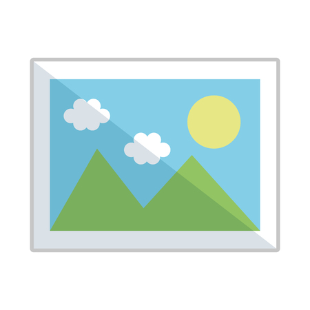 Illustration pour picture file format icon vector illustration design - image libre de droit