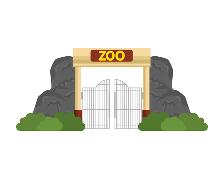Ilustración de entrance facade of zoo vector illustration design - Imagen libre de derechos