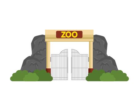 Illustration pour entrance facade of zoo vector illustration design - image libre de droit