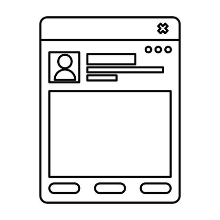 Ilustración de template webpage isolated icon vector illustration design - Imagen libre de derechos