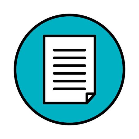 Illustrazione per paper document isolated icon vector illustration design - Immagini Royalty Free